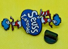 Dr Seuss Landing Thing 1 Thing 2 Spinning Pin Lapel Pinback The Cat in the Hat