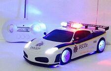 FERRARI ITALIA SPIDER POLICE CAR RADIO REMOTE CONTROL 1/20 FAST DRIFTING LED CAR