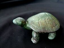 "Animal Sculpture ""Small Turtle"" Reptile  Cast  Bronze  Decorative Collectible"