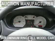 Renault Megane I ph II Chrome Cluster Gauge Dashboard Rings Speedo Trim 2pcs