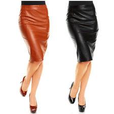 Unifarbene Normalgröße Damenröcke aus Kunstleder