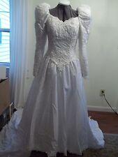 Wedding Gown  White  Size 10