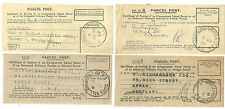 4 X INLAND PARCEL POST RECEIPTS WEST NORWOOD GIPSY HILL GRACECHURCH 1920'S/42