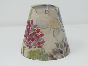 Voyage Hedgerow Natural Linen Small Candle Clip Tapered Lampshade Chandelier
