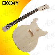 Double Cutway Shape Unfinished LP DIY Electric Guitar Kit Maple Neck EK-004Y