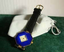 LADIES VINTAGE GIORDANO WATCH WITH BLUE FACETED CRYSTAL