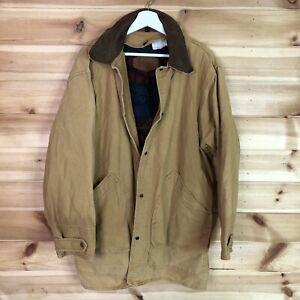 Woolrich Vintage Hunting Worker Jacket Beige Wool Lined Large