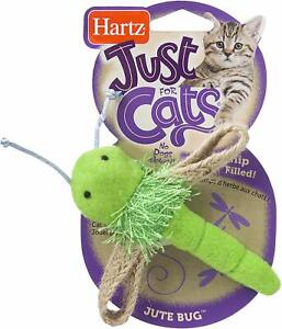 Just For Cats Jute Bug Catnip Cat Toy, Test the Cat's Instincts, Random Color