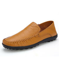 New Men's Driving Moccasins Shoes Leather Loafers Slippers Comfortable Casual