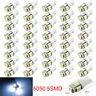 20Pcs T10 Car LED Error Free Canbus 5 SMD Xenon White W5W 501 Side Light Bulbs