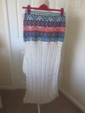 VGC JENS PIRATE BOOTY @ ASOS KNITTED CROCHET SLIT SIDE MAXI SKIRT SIZE M/L
