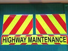 Highway Maintenance Magnet Highways Road Works Chevron Sticker 620mm package KIT