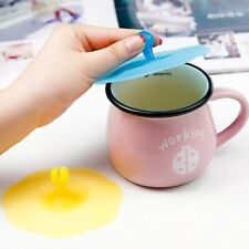 Can Fix Spoon Coffee Tea 1 Piece Silicone Cup Cap Water Lid Anti-dust Cup Cover