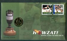 2006-07 Australia Wins The Ashes Fdc/Pnc With Limited Edition $1 Coin 3769/8000
