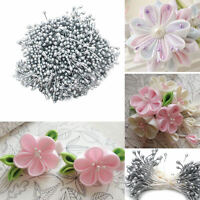 1600pcs 6cm Pearl Effect Double Head Stamen Artificial Flower Crafts Wedding Dec