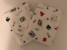 New Royal Flush Playing Card Print Set of 2 Standard Flannel Pillowcases