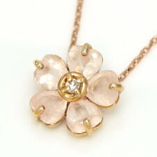 K10 Color Gold Necklace Primavere F/S Sakura Cherry Blossom Diamond Rose Quartz