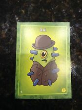 RARE PLANTS VS ZOMBIES STOP ZOMBIE MOUTH TRADING CARDS PUTRID POSSE CARD D.K. #1