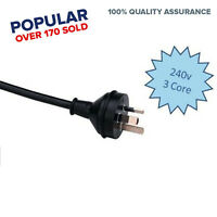 3 Pin 10 Amp Insulated Flex Plug and Lead Cable Black 250V 1M Core and Earth