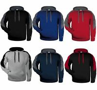 Mens Contrast Hooded Sweatshirt Sports Jumper Pullover Hoodie SNS Apparel