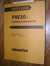 Komatsu PW30-1 PARTS MANUAL BOOK CATALOG WHEELED EXCAVATOR HYDRAULIC GUIDE LIST