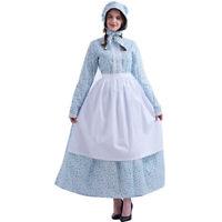 Colonial Women Reenactment Pioneer Dress Puritan Dress Civil War Dress 4 Colors