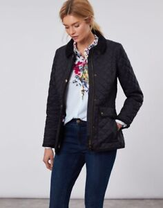 JOULES NEWDALE  stylish quilted jacket black new with tags
