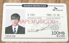 BANGTAN BOYS BTS 방탄소년단 SK TELECOM V STUDENT IDENTITY CARD PHOTOCARD NEW