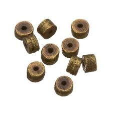 Antique Gold Metal Washer/Barrel Spacer Beads 5mm Pack of 10 (C83/17)