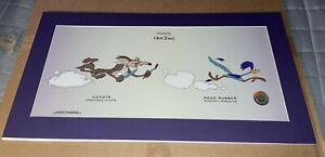 "WARNER Bros. Wile E Coyote & Road Runner ""Beep Beep"" Serigraph SeriCel Cel Cell"