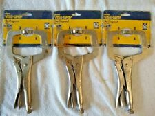 """Irwin Vise-Grip 11R The Original 11"""" Locking C-Clamps with Regular Tips (3 Pack)"""