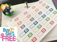 PP275 -- Small Test Reminder Life Planner Stickers for Erin Condren (24pcs)