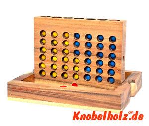 Vier in einer Reihe Bingo Box small Knobelholz Strategiespiel  Kinderspiel