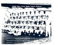 1966 NEW YORK METS 8X10 TEAM PHOTO BASEBALL BOYER BERRA JONES HUNT HICKMAN HOF