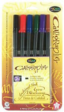 Sakura 50321 20 (2mm) Pigma Calligrapher 6 Piece Color Pen Set