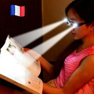 LUNETTE Loupe LUMINEUSE GROSSISSANTE LED LECTURE Lampe NOIR Dioptrie +2.00 🇫🇷