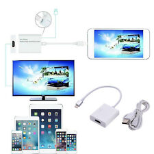 HDTV Cable Plug Across Different Device for iPhone 5/6/7 Converting into HDMI TV