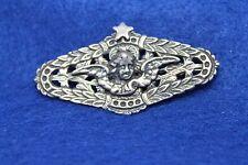 Estate Antique Sterling Cherub w/Wings Brooch/Pin -No Marks - Mystery