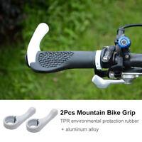 Par Puños de Manillar Grip Para Bici Bicicleta de Montaña MTB Ciclismo Blanco