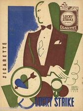 Erberto Carboni - LUCKY STRIKE-sigaretta-futurismo-1932-fumo  in vari colori