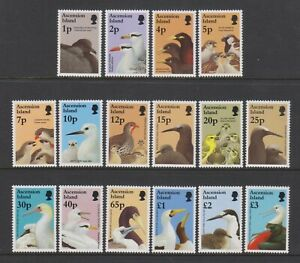 Ascension - 1996, 1p - £3 Complete Birds & Their Young set - MNH - SG 679/94