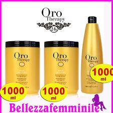 Kit Fanola 2 Shampoo 1000ml + Maschera 1000 ml ORO THERAPY gold illuminating