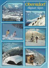 Germany 1987 Oberstdorf Nordic Ski Week Postcard used VGC