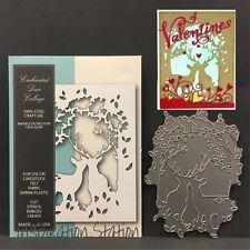 Enchanted Deer Collage metal die Memory Box dies 99592 animals,doe,buck,frames