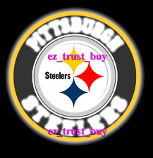 "Pittsburgh Steelers Led 3D Neon Sign 16""x16"" Light Wall Display Bar Lamp"