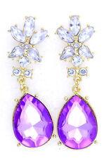Vintage Art Déco style émaillé oiseaux dangle earrings