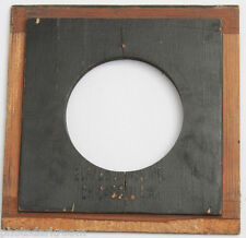 """4"""" Square B&J Lens Board Blank - 50mm Opening with 4 Mount Holes - CRACKED D101A"""