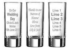 Personalised Engraved Shot Glass Birthday Gift Idea Stag Hen Night christmas