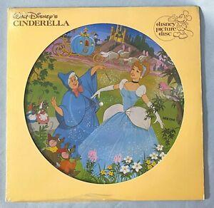 Vintage CINDERELLA Picture Disc Vinyl Disneyland Record 1981 #3107 Sounds Great!