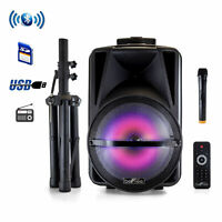 beFree Sound 12 Inch Bluetooth Rechargeable Portable PA Party Speaker with Reac
